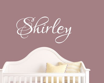 Baby Girl Name Wall Decal - Name Wall Sticker Vinyl - Vinyl Decal - Name Decal - Personalized Decal - Children Name - Decals