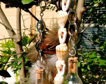 Beach inspired feather earrings