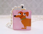 Charm - Oscar - Scrabble Tile Jewelry - Chain sold SEPARATELY