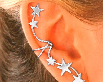 Imagine the Compliments… Shooting Star Non-Pierced Ear cuff Earrings