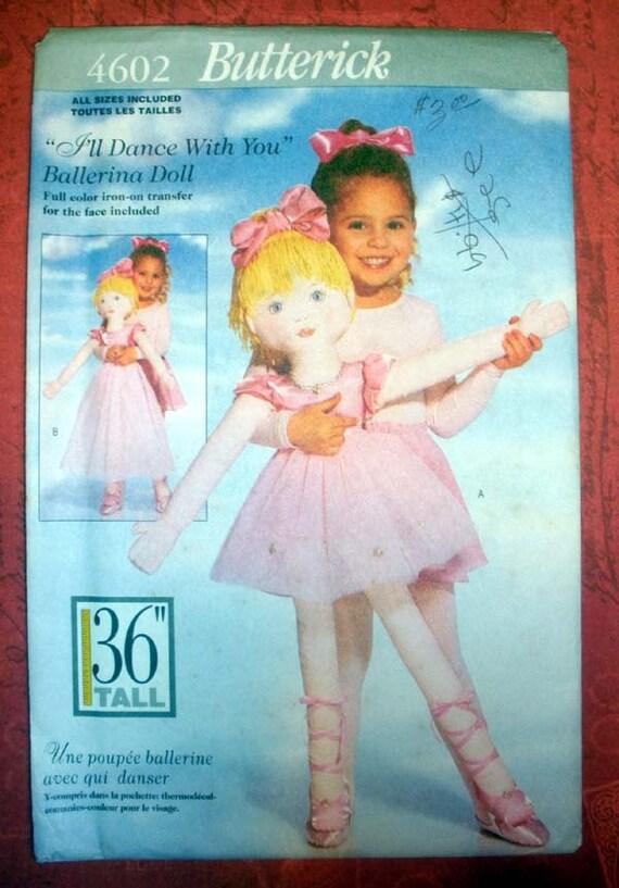 Butterick 4602 Ballerina Doll Pattern 36 By