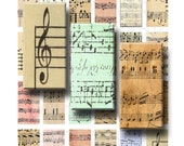 Sheet Music - Digital Collage Sheet - 1 x 2 inch Domino - INSTANT DOWNLOAD