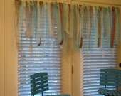 Ocean Wedding Burlap and Lace Garland / Curtain / Anthropologie Inspired 3ft x 2ft