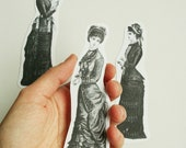 Laptop decal victorian lady, self-adesive label, vintage image