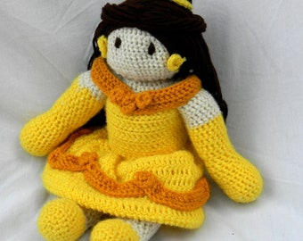 Beauty and the Beast Belle Crochet Doll