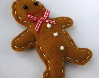 Christmas Gingerbread Man Decoration Felt