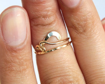 Above Knuckle Ring Gold Adjustable Ring Wire Jewelry