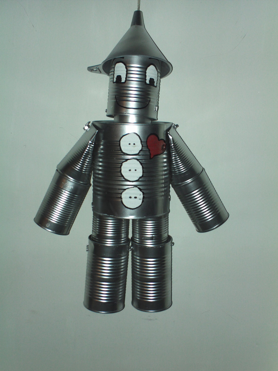 Tin man made with soup cans pictures to pin on pinterest for Tin can tin man craft