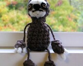 Crochet Sloth Mini Doll Windowsill Charm