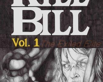 Pencil drawn alternative Kill Bill poster