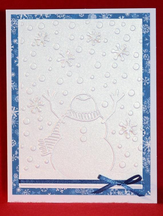 Snowman handmade christmas cards for Handmade snowman christmas cards