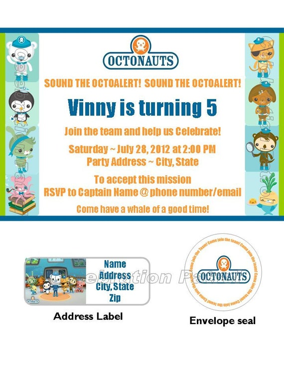 Octonauts Birthday Invitations and get inspiration to create nice invitation ideas