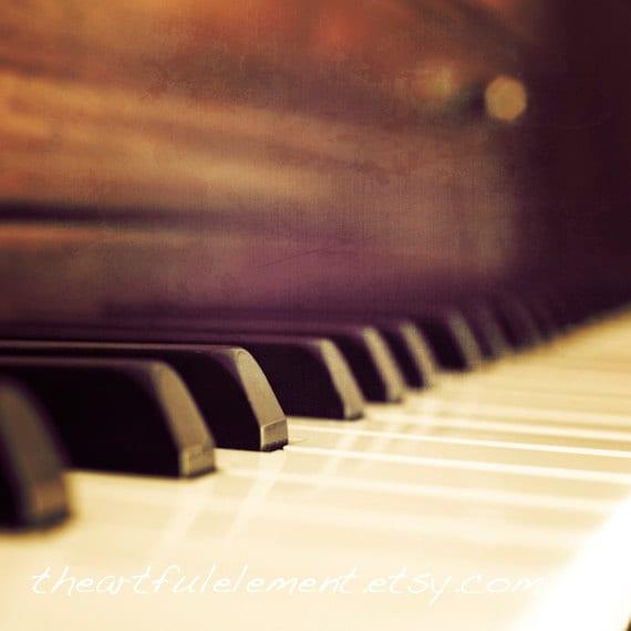 Arts Music Photography: Piano Photograph Music Room Decor Piano Key Art Music Art