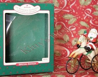 Hallmark Ornament 1988 The Wonderful Santacycle with box