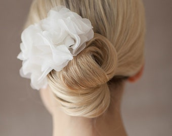 Bridal Silk Flower for the Hair, Headpiece - Lou