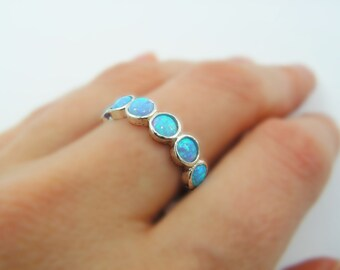 Opal sterling silver ring. birthday gift for her, romantic gift ideas, opal jewelry, bohochic jewelry (sr-9531-587)