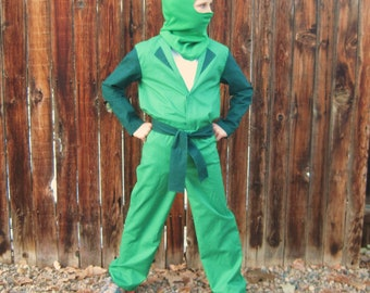 Lego Ninjago BASIC Green Ninja inspired costume for boys
