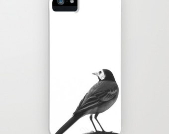 iPhone Case - 5 4 4s 3g 3gs - Little Bird - Black and White - Nature