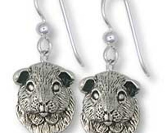 Solid Sterling Silver Guinea Pig Earrings
