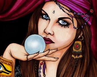 Fortune Teller Gypsy Seer Psychic - 8x10 Print