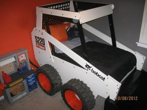 Items Similar To Children S Twin Skid Loader Bed On Etsy