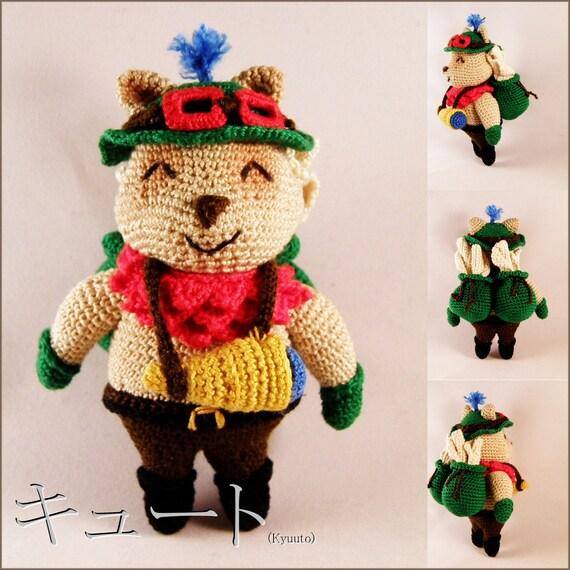 Items similar to Amigurumi crochet pattern: Teemo, league ...