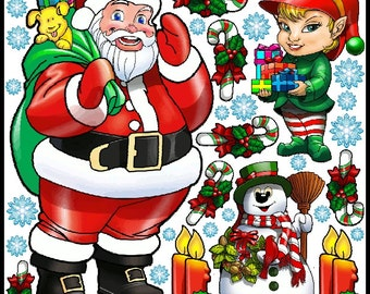 Christmas Graphic Kit - reusable decal sticker decorations