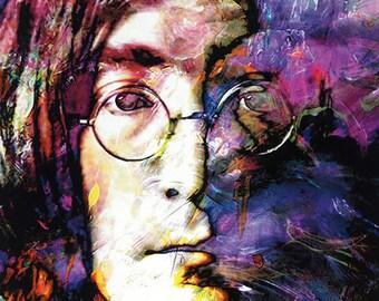 John Lennon art prints wall decor on canvas by Mark Lewis Art - jls2