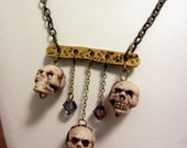 The Decay -Skull and Glass Crystal Necklace