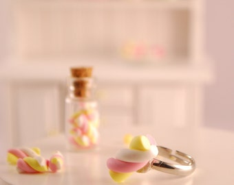 marshmallow ring - food jewelry