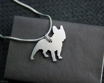 free shipping - French Bulldog Lover Charm Jewelry Frenchie Stainless steel Pendant Necklace with chain and cord