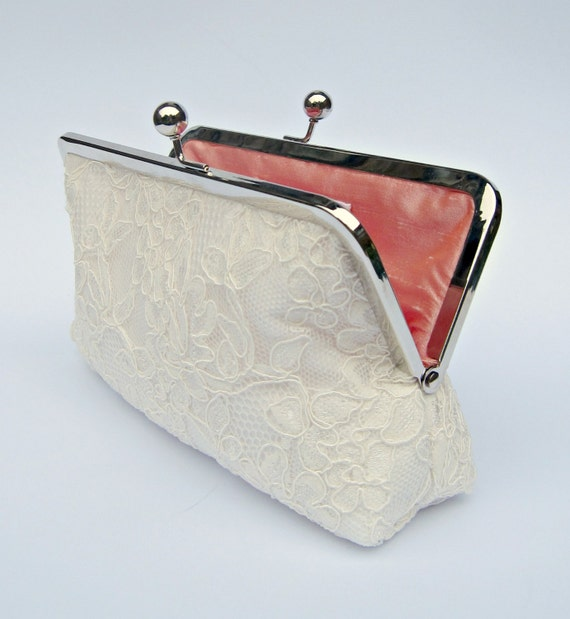 Ivory Lace Clutch Ivory Bridal Clutch Off White Wedding