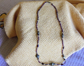 "Garnet bead 20"" necklace"