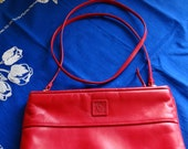 Red Leather Purse by Anne Klein for Calderon