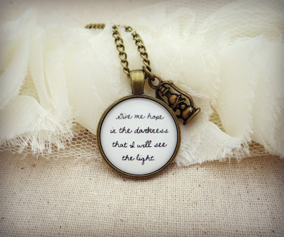 Mumford and Sons - Ghosts That We Knew Inspired Lyrical Quote Pendant Necklace