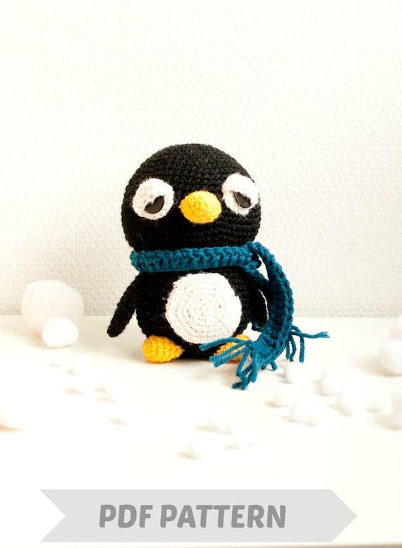 Amigurumi Penguin : Items similar to Amigurumi penguin pattern crocheted soft ...
