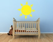 Smiling Sun Vinyl Decal Size SMALL - Sun, Sun Vinyl Wall Art, Sun Sticker, Sun Decor, Sun Decorations, Sun Art, Nursery Art, Kids room Art