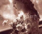 no617 VINTAGE photo DIGITAL DOWNLOAD - Gypsy Princess Art Printable - Antique Photograph - Victorian Beautiful Woman