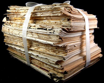 4lbs. Bundled Vintage Paper Pages 1920 Through 1950 Print