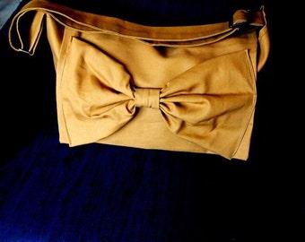 Handmade Adjustable strap laptop book bag Messenger bag in tan Color Options avaliable