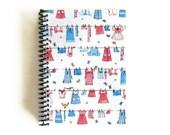 Kid Clothes Line - Cute Notebook Spiral Bound - 5x7in