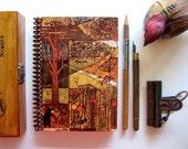 Autumn Woodland, Spiral Notebook, Spiral Bound Journal, Blank Sketchbook, 5x7 Inches Notebook, Back to School, Travel Journal
