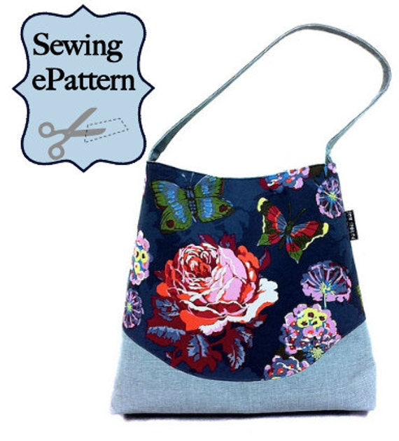 2- PDF Sewing Pattern, Shoulder Bag with Zipper Pocket Divider and Lanyard
