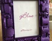 Gorgeous Purple Glitter Embellished Frame - cjBlueCompany