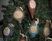 Prim Handmade  ChristmasTree Ornaments