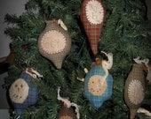 Prim Handmade  ChristmasTree Ornaments