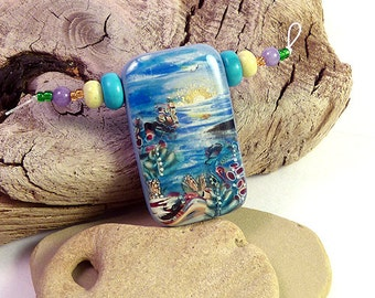 one-of-the-kind pendant (beautiful polymer clay pendant handmade by Rasa L.)