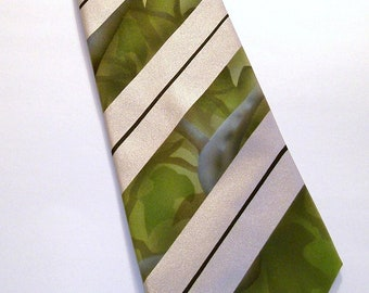 Camo tie. one of a kind hand inked mens camo necktie