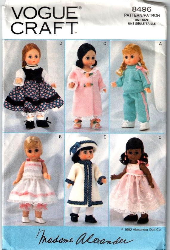 Vogue 8496 Madame Alexander Baby Doll Clothes Pattern 5