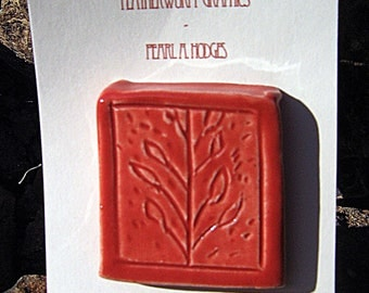 Ceramic Tile - Small Red Tree
